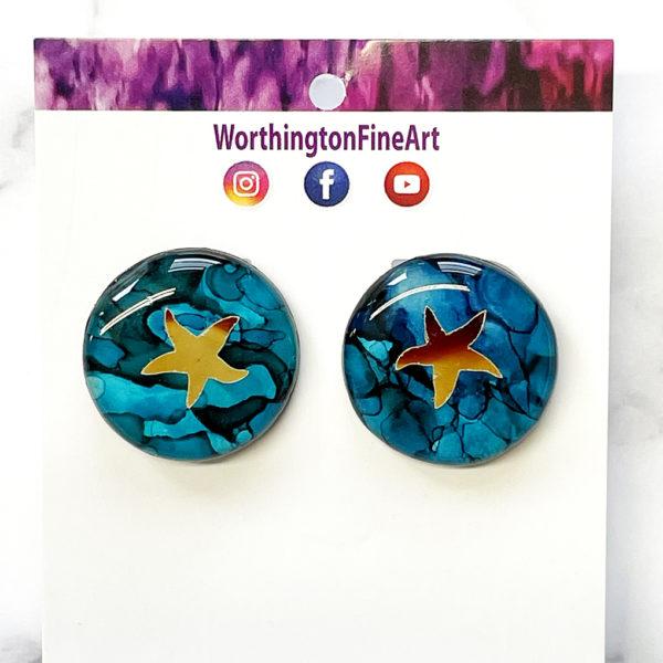 Beachy Starfish Stud Earrings